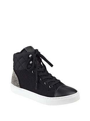 Janis Flannel High Top Sneakers Guess Com