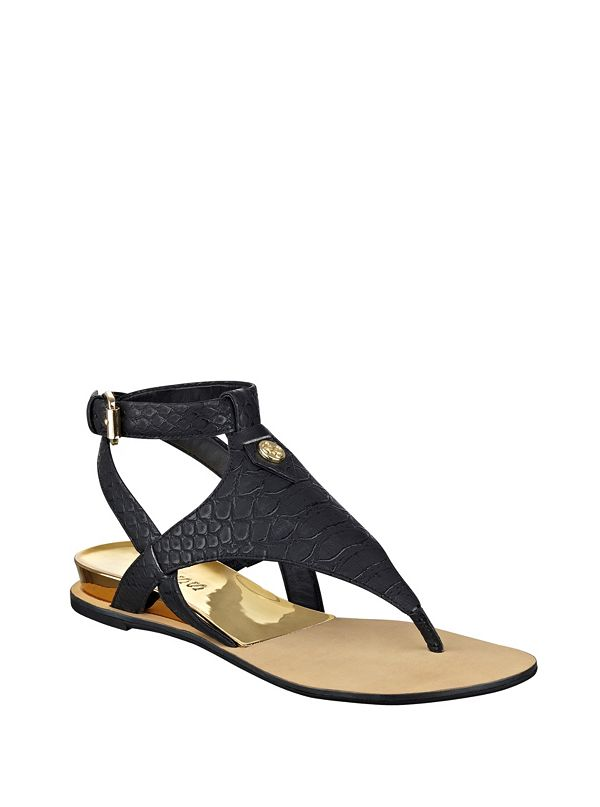 Lacie Metallic Gladiator Sandals by Guess