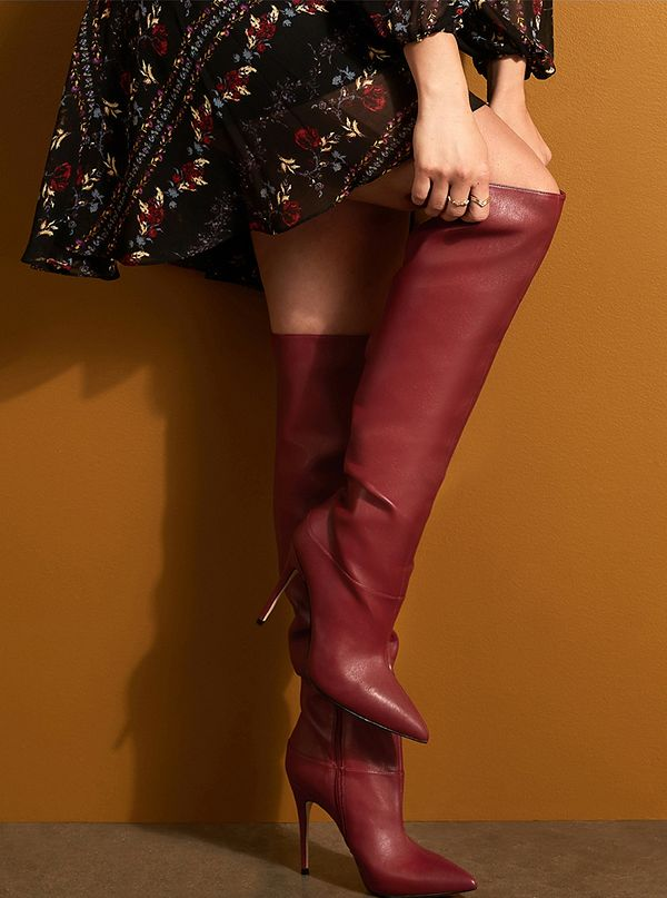 3bcfba8fd34 Orianna Pointed Over-The-Knee Boots
