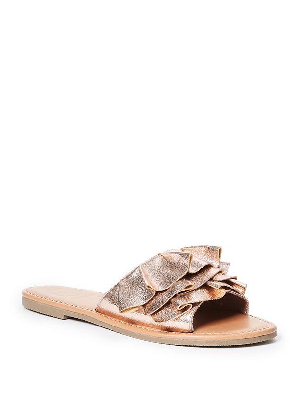 Ruffled Slide Sandals