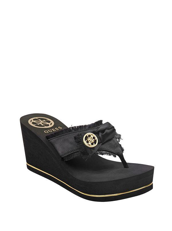 Sequins Strap Platform Sandals by Guess