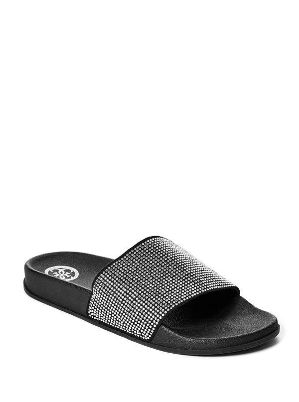 a387abbcab7821 GWSPARKLER. best seller · Sparkler Rhinestone Slide Sandals