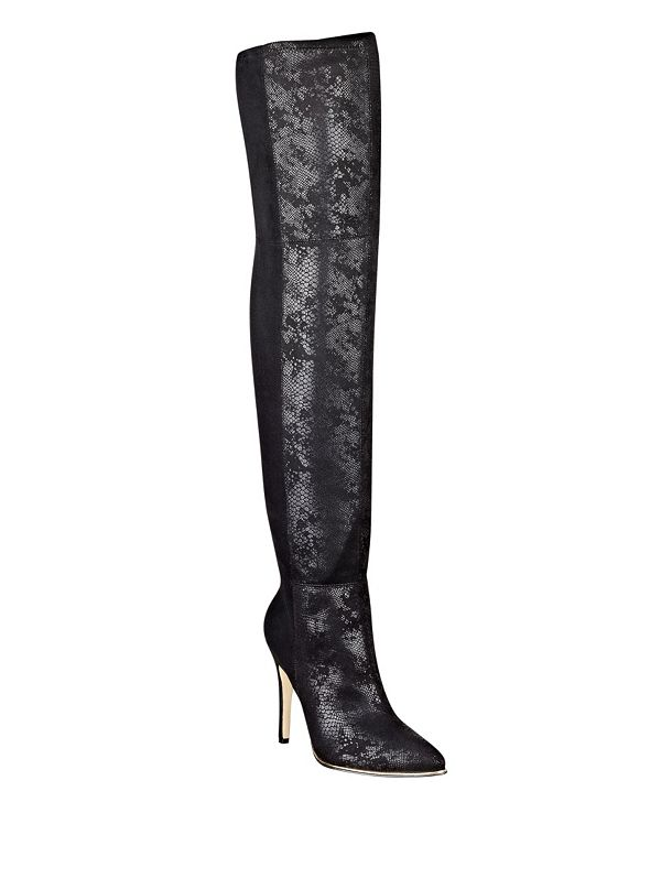 zonian faux suede the knee boots guess