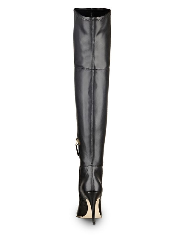 zonian faux leather the knee boots guess