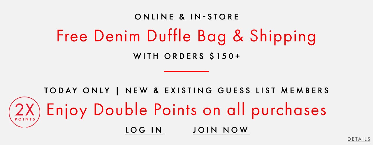 Free Denim Duffle Bag