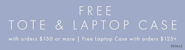 Free tote + laptop case + shipping
