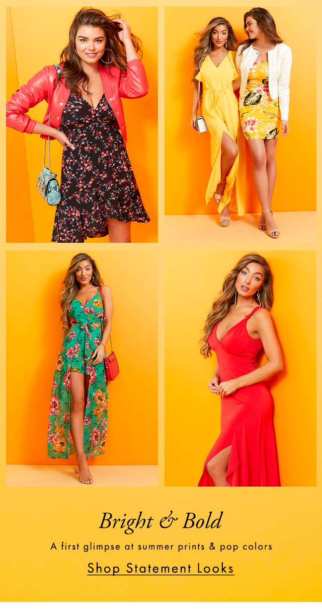 A first glimpse at summer prints & pop colors