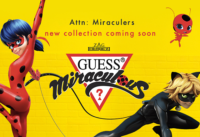 Sign up to be the first to shop the new GUESS x Miraculous collection
