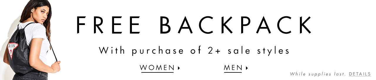 Free Backpack With Purchase of 2+ sale styles