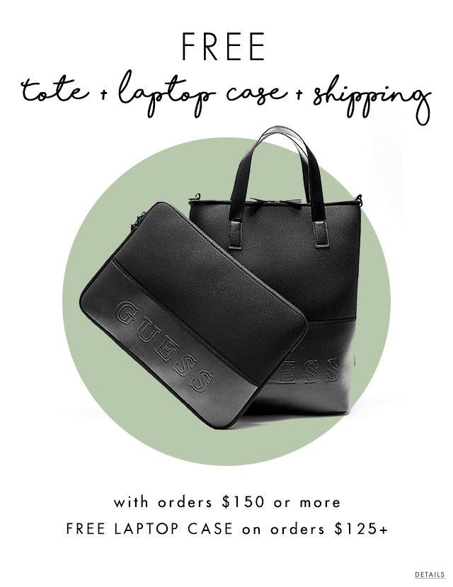 Free tote, free laptopcase, free shipping
