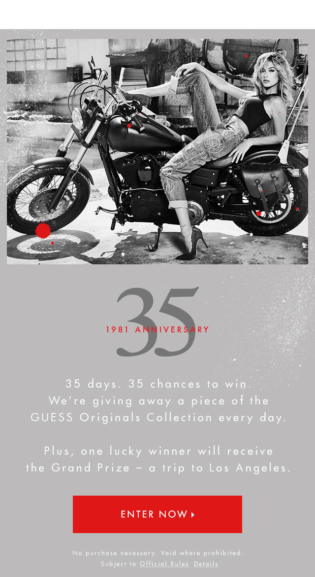 Enter 35TH ANNIVERSARY SWEEPSTAKES