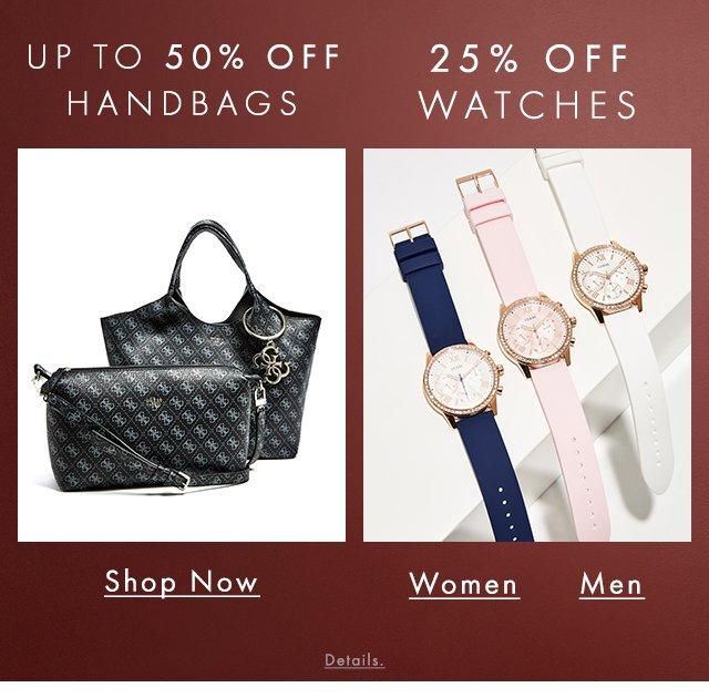 Shop GUESS Handbags and Watches