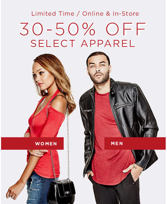 30-50% Off Select Apparel