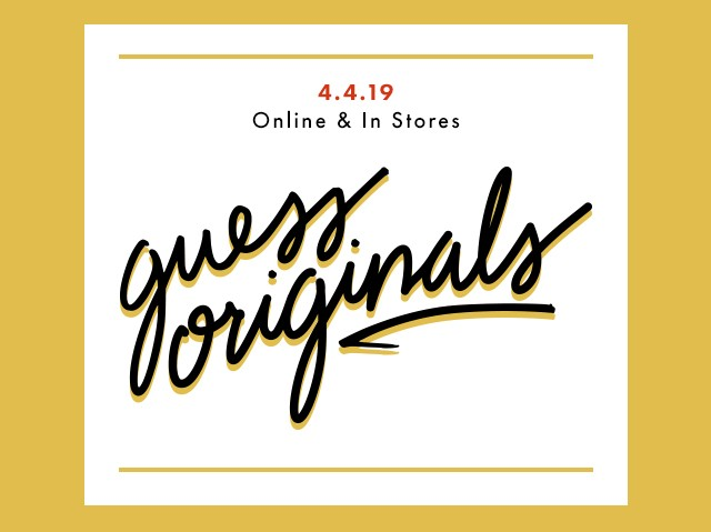 Email sign up for GUESS Originals