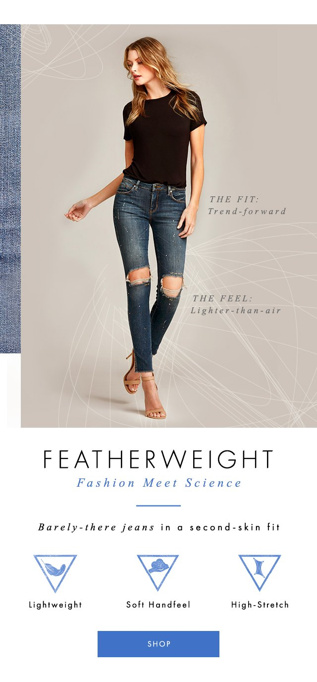 Barely-there jeans in a second-skin fit