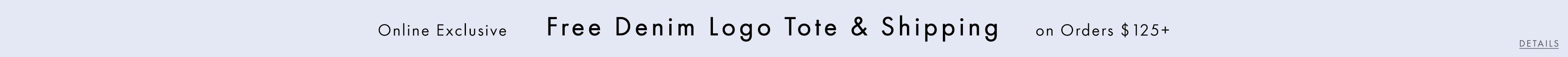 Free Denim Logo Tote & Shipping