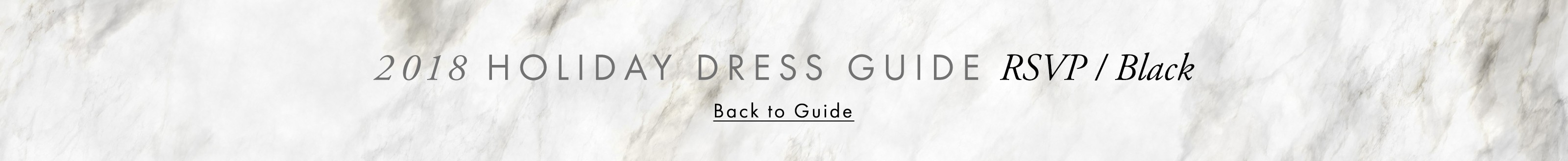 2018 Holiday Dress Guide