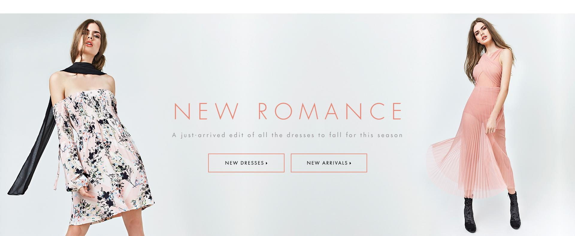 New Romance A just-arrived edit of all the dresses to fall for this season