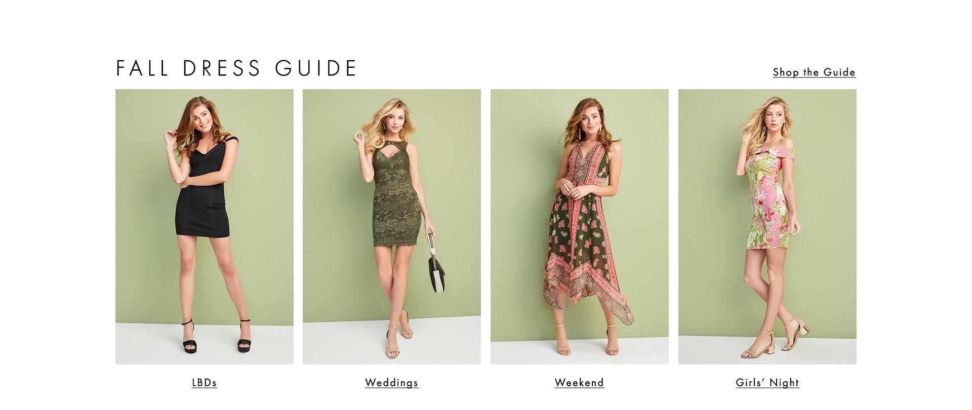 Shop Fall Dress Guide