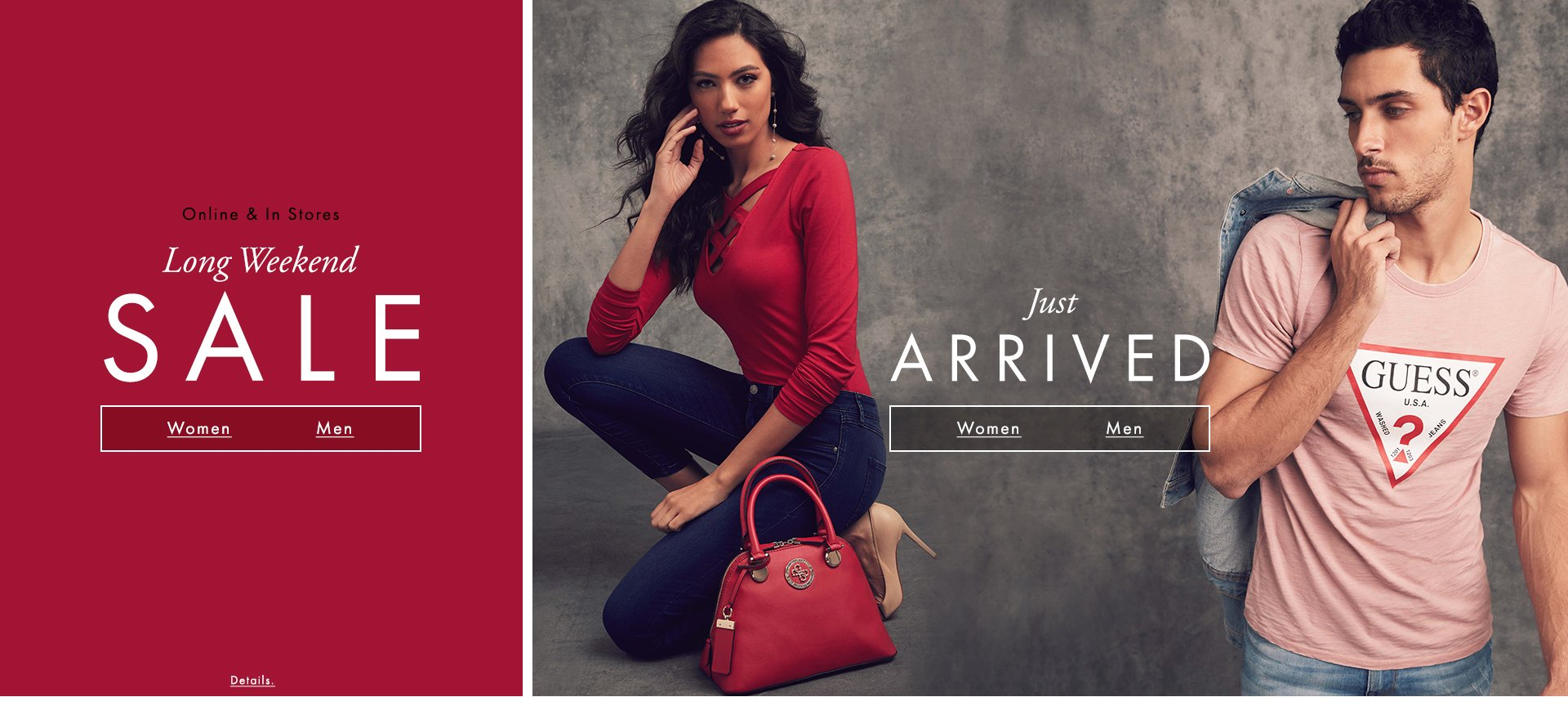 GUESS Long weekend sale & New Arrivals ...