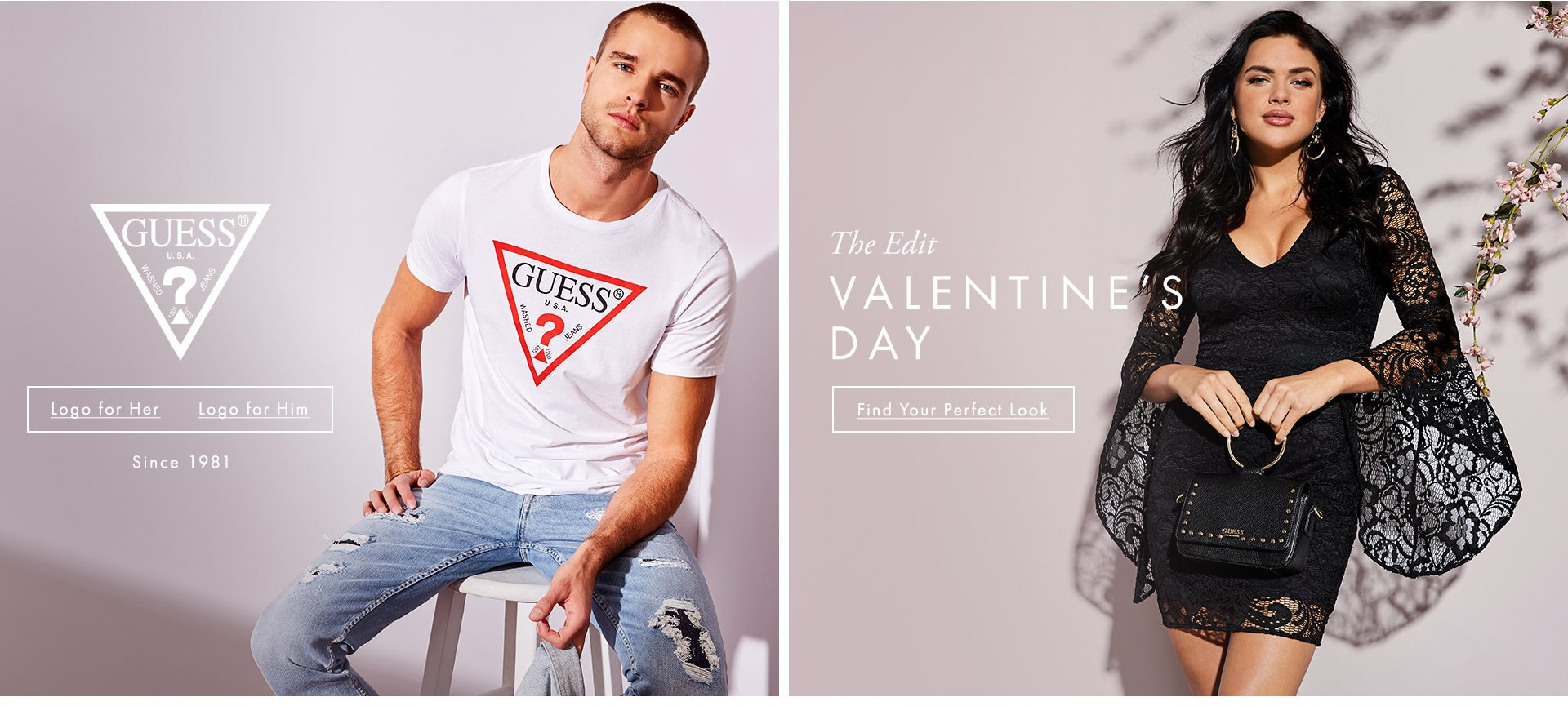 Shop GUESS? Valentine's Day and Logo
