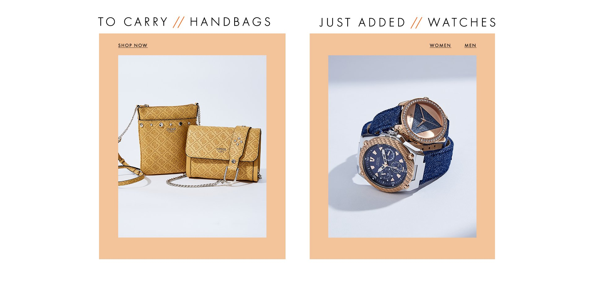 Handbags and watches