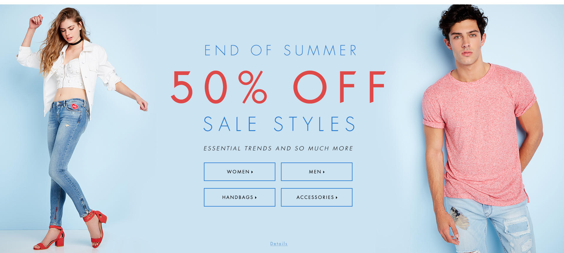 Shop end of summer sale