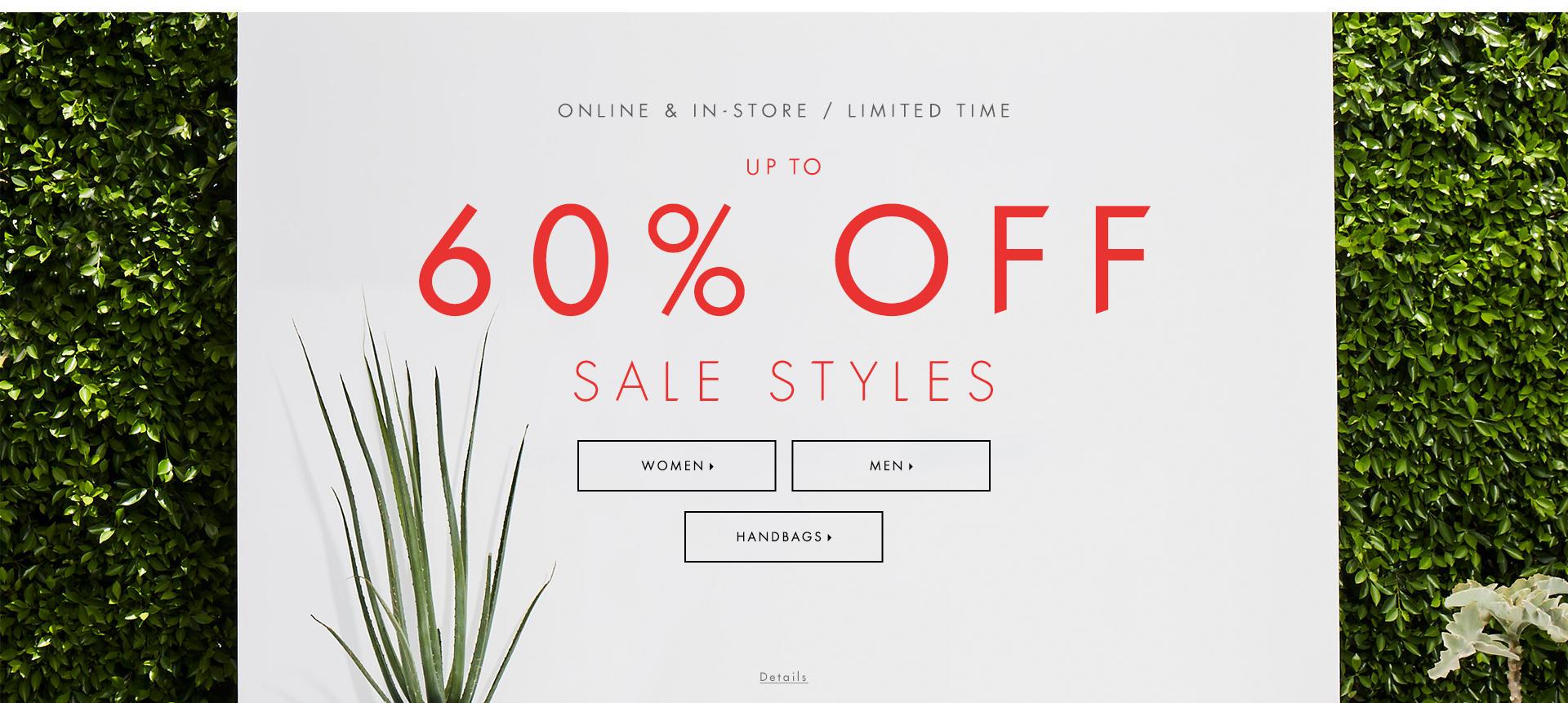 Shop end of summer sale