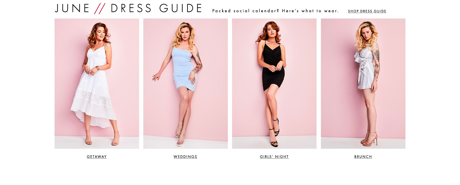 Shop Junes Dress Guide