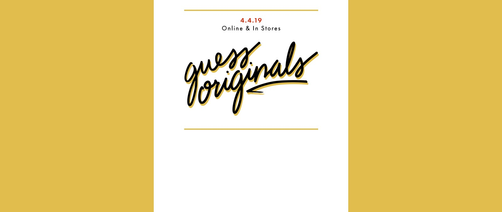GUESS Originals release page