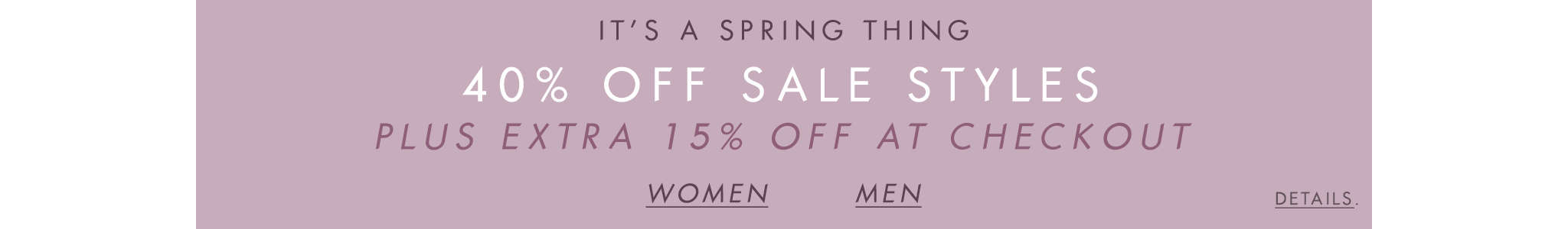 40% Off Sale Styles