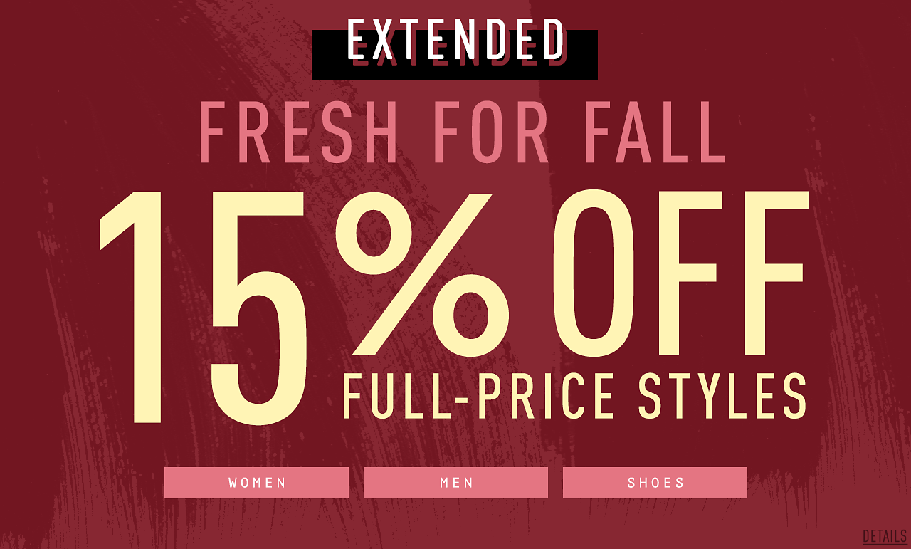 15% Off Full-Priced Styles