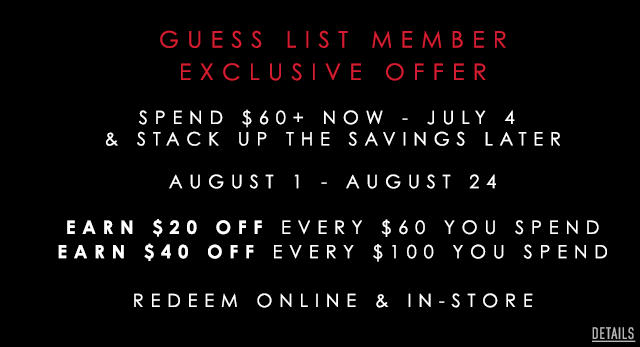 Guess List Member Exclusive Offer