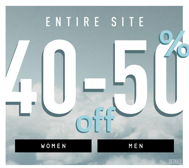 Entire Site 40-50% Off
