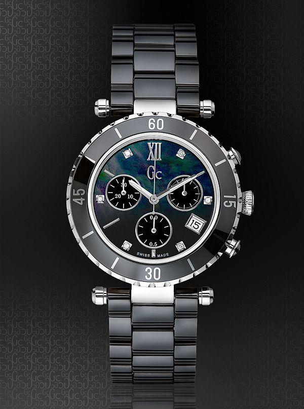 0e241cfc9 Gc Diver Chic Black Ceramic Chronograph Timepiece | GUESS.ca