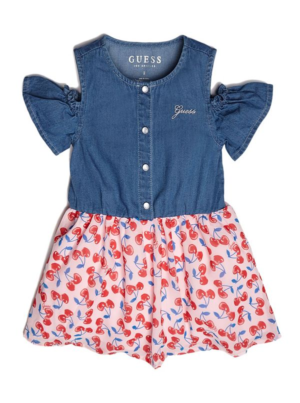 c6c31ed49 Cherry Cold-Shoulder Two-Fer Dress (2-7)