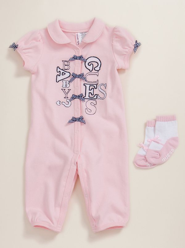 logo coverall with socks guess com