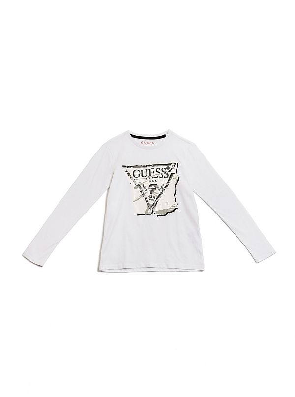 31267e95ea63 Sale · Long-Sleeve Distressed Logo Tee ...