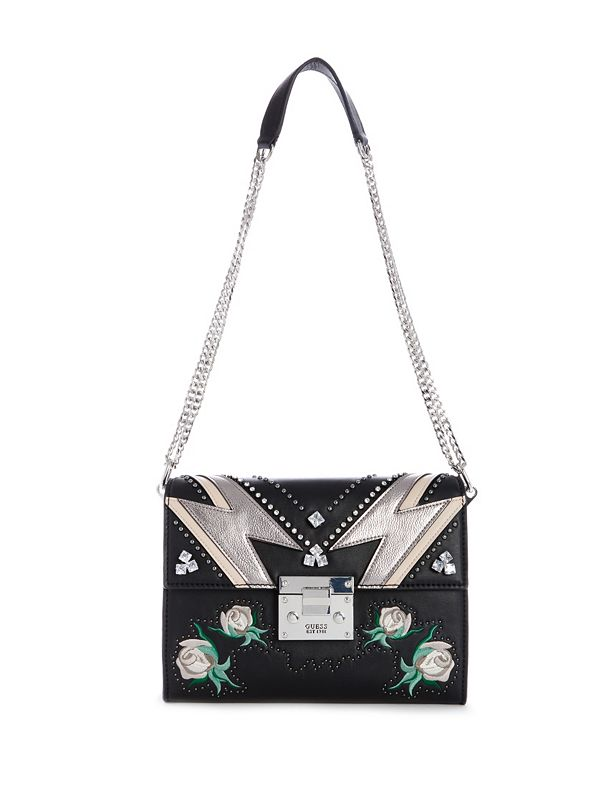 Alba Convertible Embroidered Crossbody   GUESS.com 33453dd039