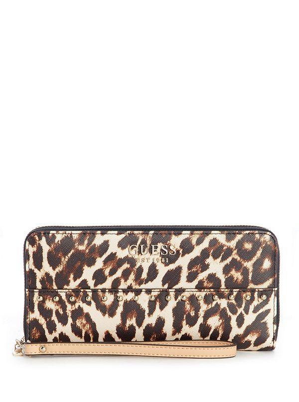 aefc72261435 Kamryn Leopard-Print Wallet   GUESS.com