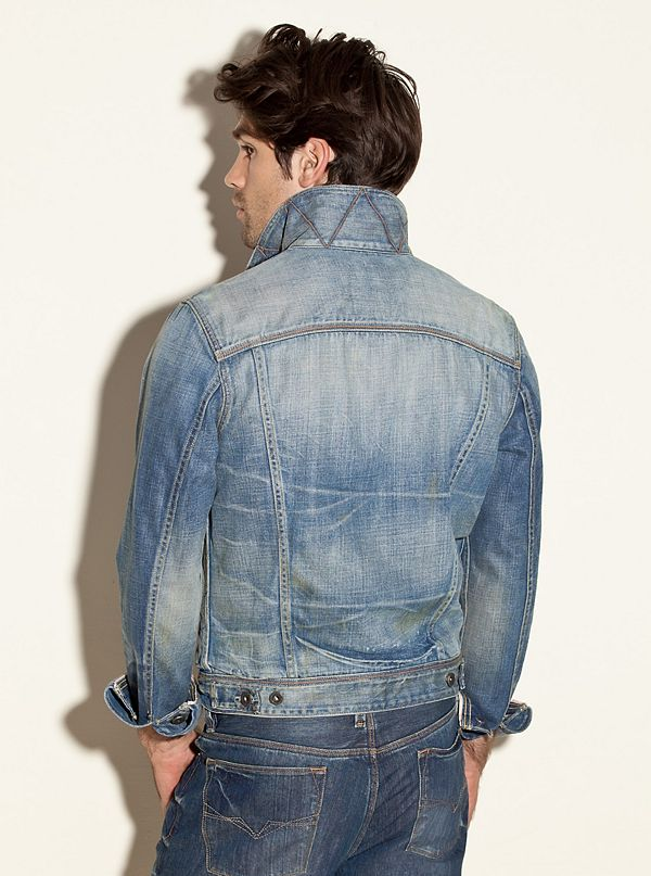 Vintage Style Denim Jacket Web Exclusive Guess Com
