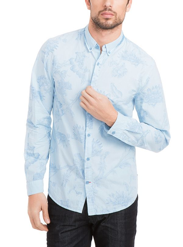 Dillon Slim Fit Shirt With Inbloom Collage Print
