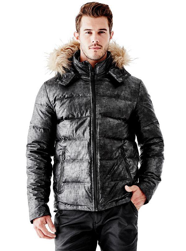 Alaska Faux-Fur Hooded Puffer Jacket | GUESS.com