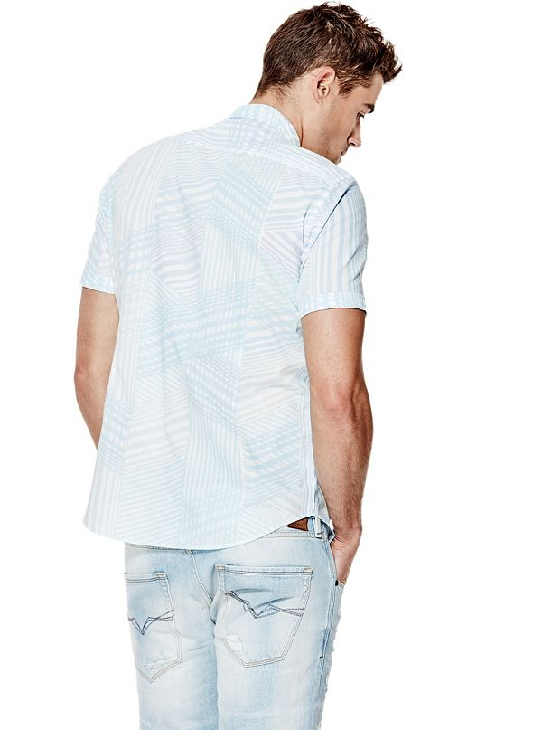 Fuse Short Sleeve Striped Slim Fit Shirt