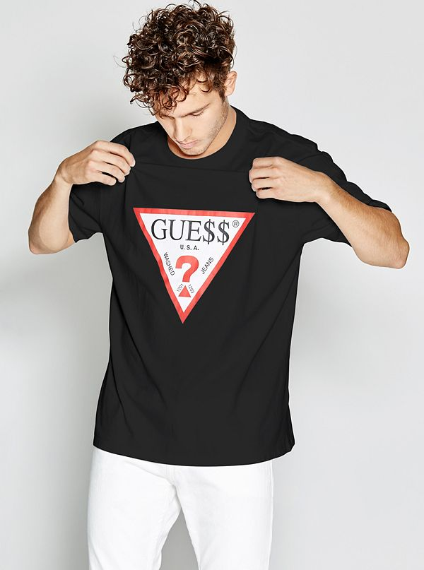 e04e0e7dc Oversized Short-Sleeve Retro Logo Tee | GUESS.com