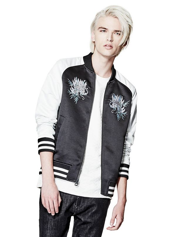 guess embroidered jacket