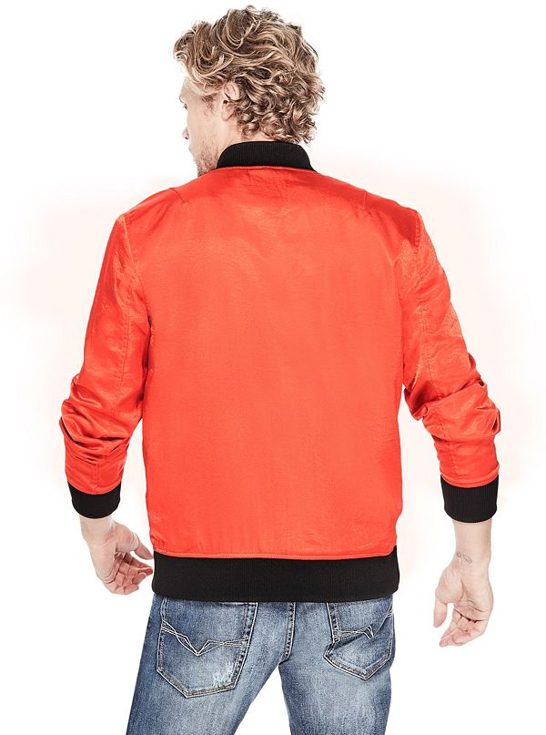 Irvine satin bomber jacket for 18 8 salon irvine