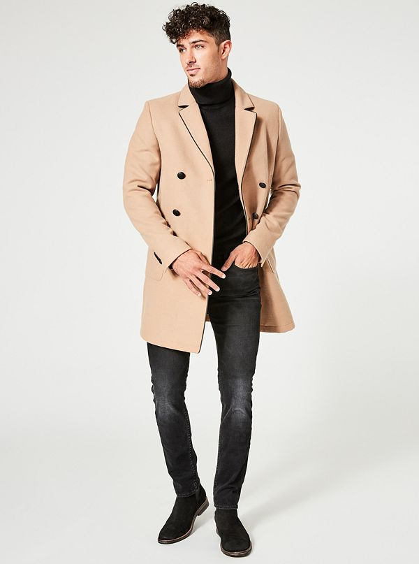 5a1a49bf02 Harlan Double-Breasted Coat | GUESS.ca