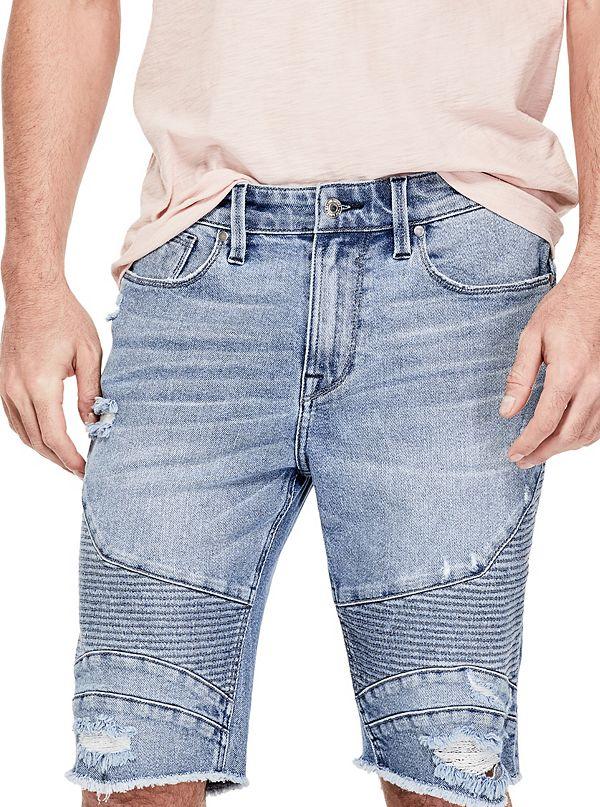 Slim Moto Denim Shorts by Guess