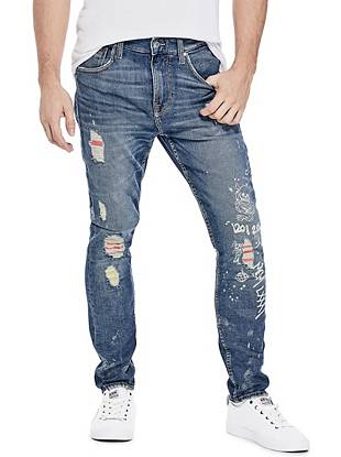 Destroyed Utility Patch Jeans by Guess